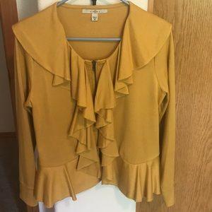 💛Pretty Mustard Yellow Ruffle Jacket/Blazer